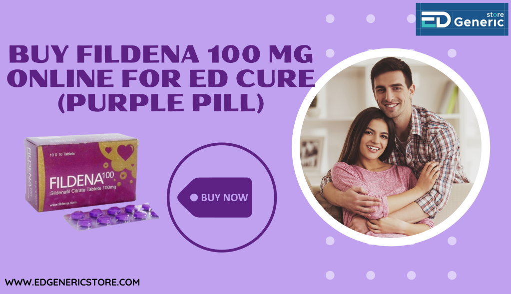 Buy fildena 100mg online : Resolve Ed by Fildena 100 purple pill | Edgs
